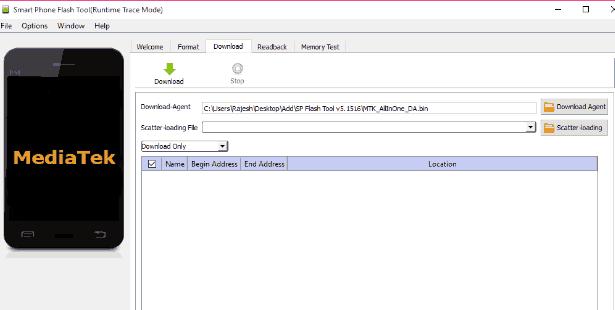 Cara Flash Lenovo A319 via Flashtool