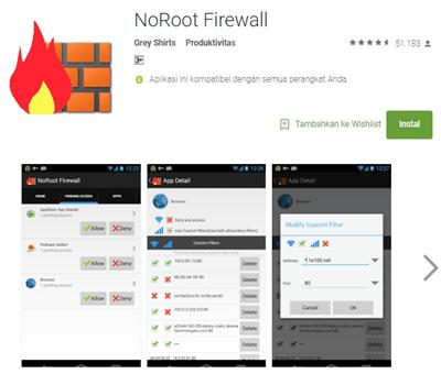 Menghilangkan Iklan di Android dengan NoRoot Firewall