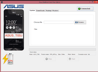 cara flash asus zenfone 5 via flashtool