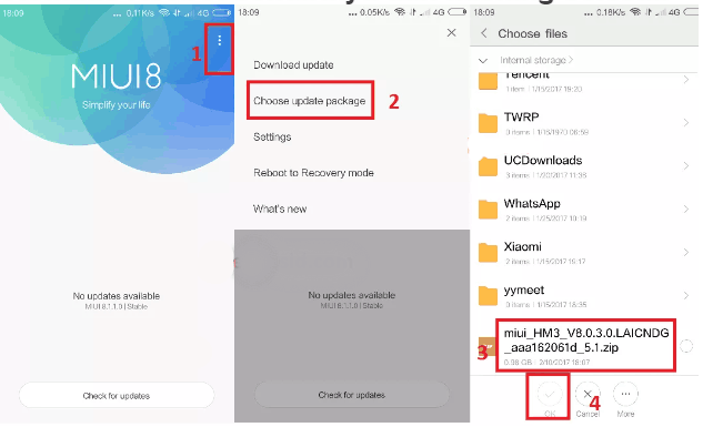 Cara Flash Redmi 3 Tanpa PC