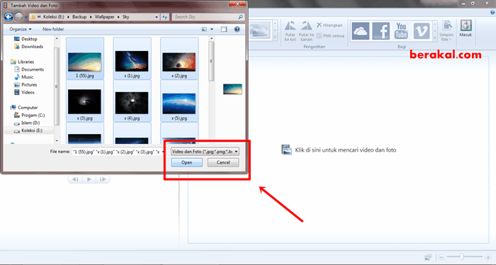 cara membuat video foto dengan movie maker