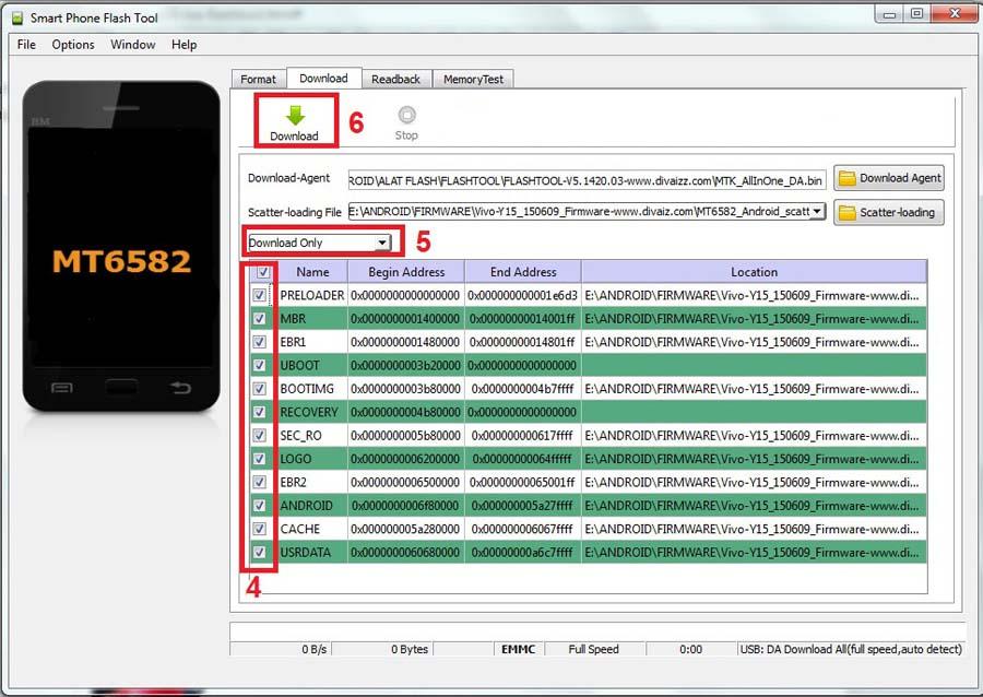 Cara Flash Vivo Y15 Mode Download SPFT