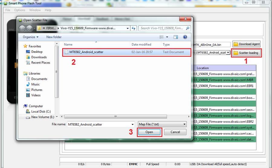 Cara Flash Vivo Y15 Scater Loading File
