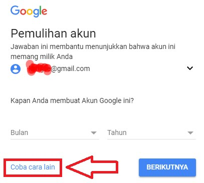 lupa password gmail android samsung