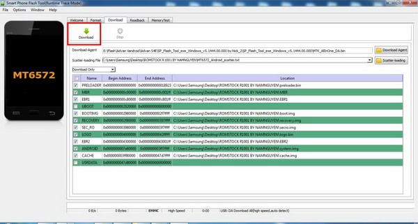 Cara Flash Oppo Joy R1001 Mode Download SPFT