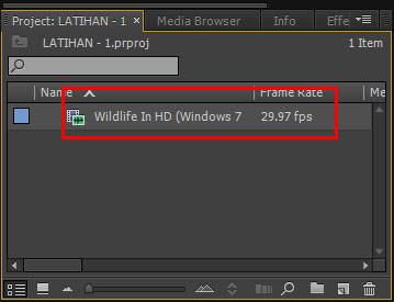 Cara memotong video dengan adobe premiere