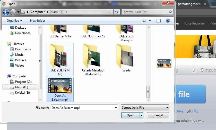 cara memotong video tanpa aplikasi
