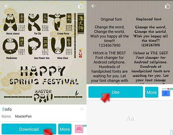 cara mengubah font android