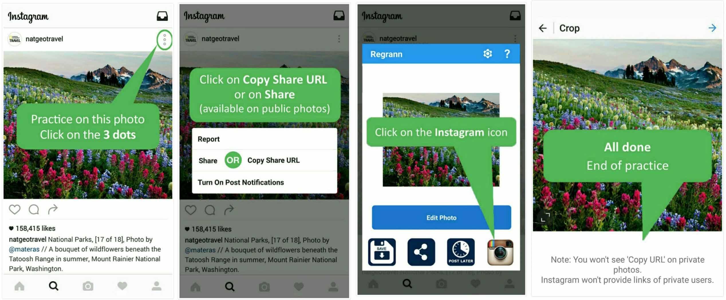 cara repost instagram dan captionnya