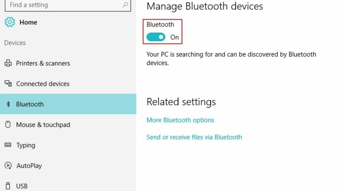 cara mengaktifkan bluetooth di laptop asus