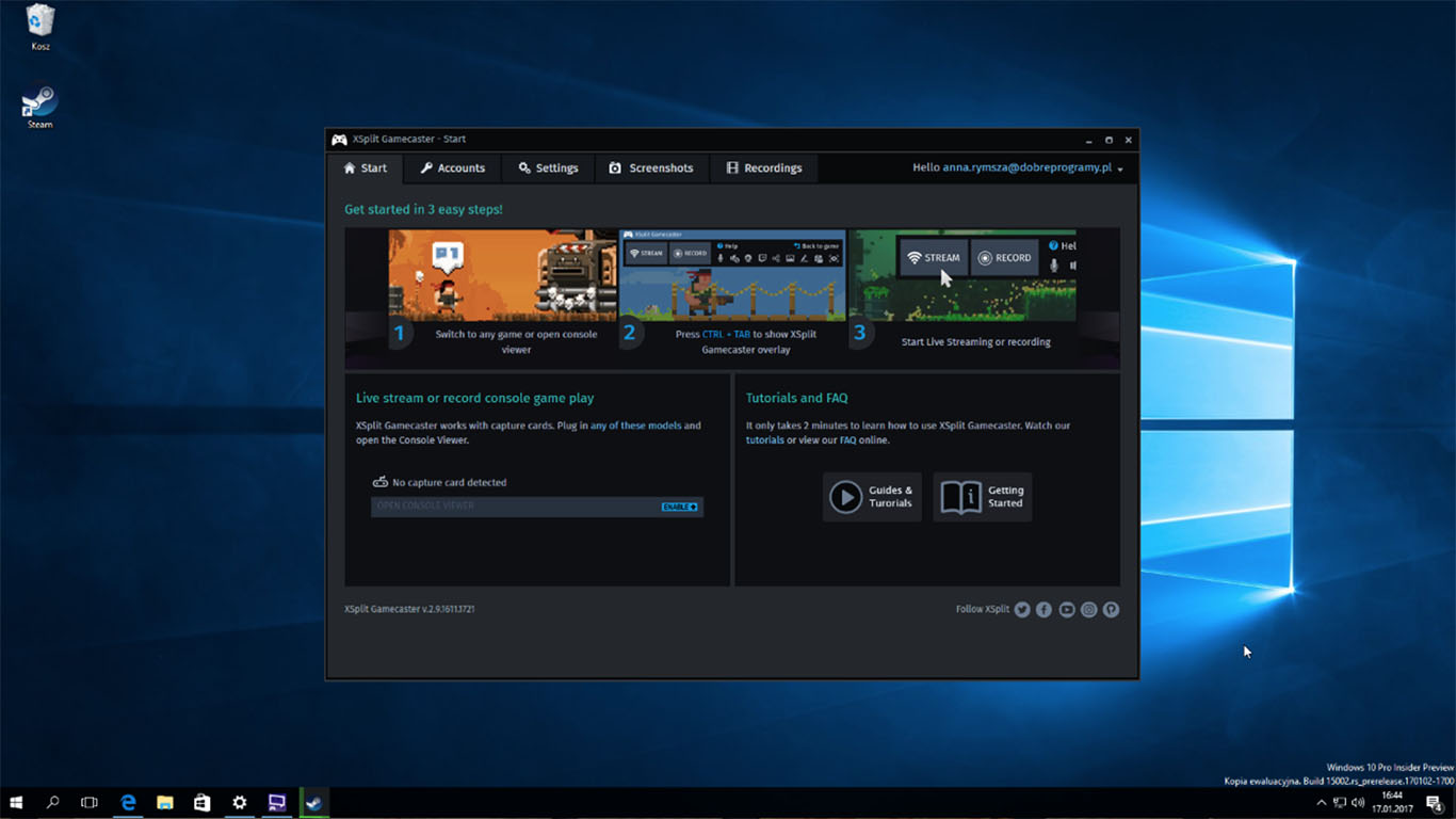 aplikasi perekam layar dan wajah di pc
