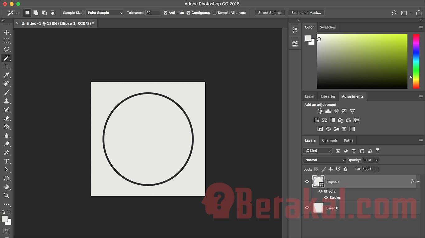 cara desain logo dengan photoshop