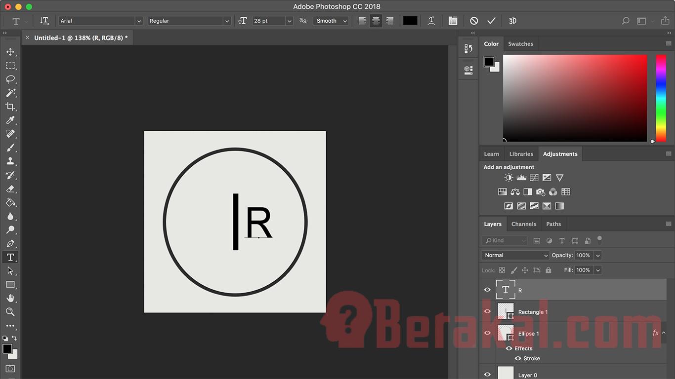 cara membuat logo di photoshop dengan mudah