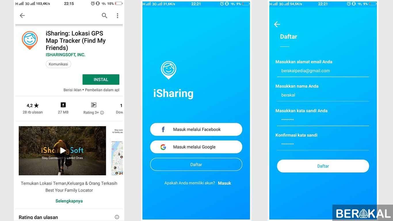 iSharing Play Store