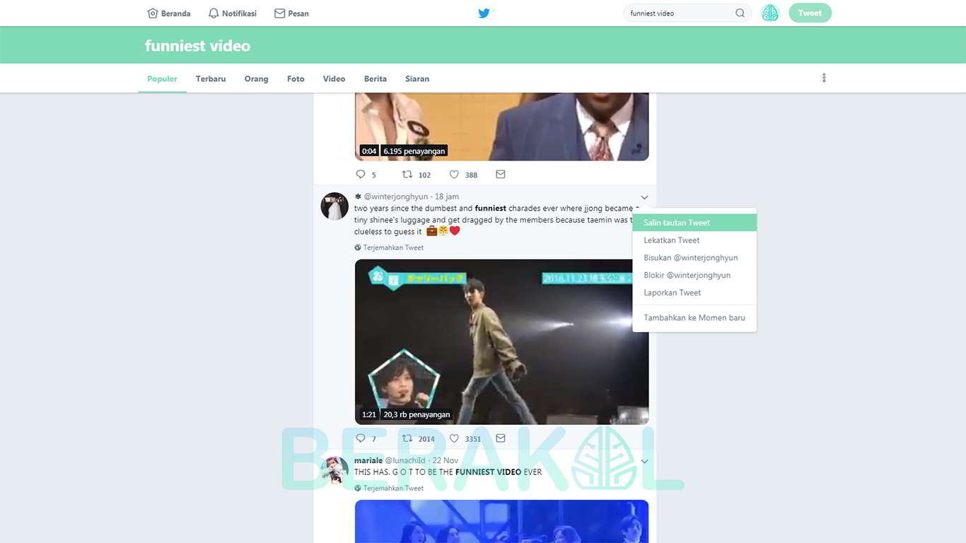 cara download video di twitter tanpa software