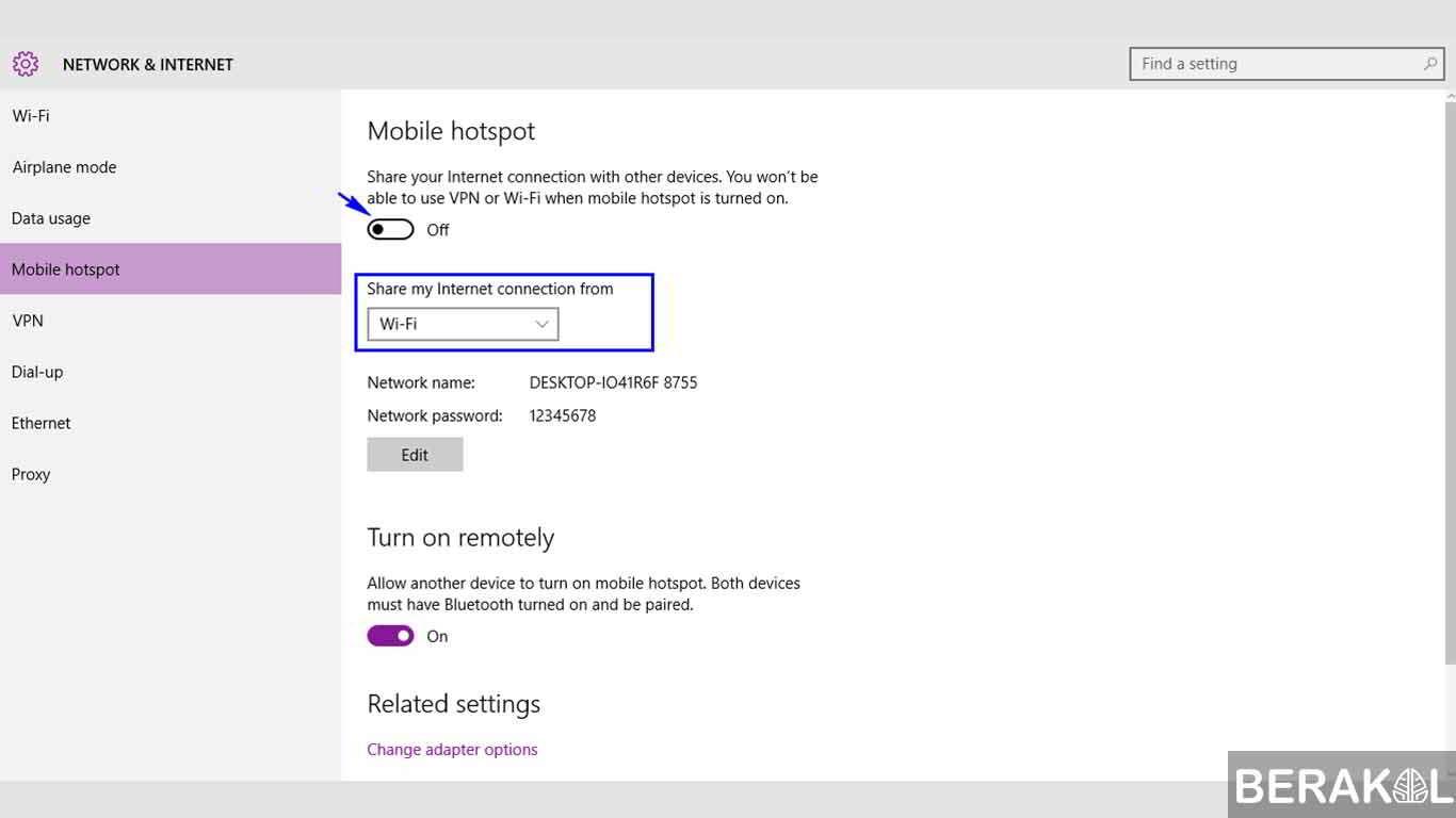 cara membuat mobile hotspot di windows 10