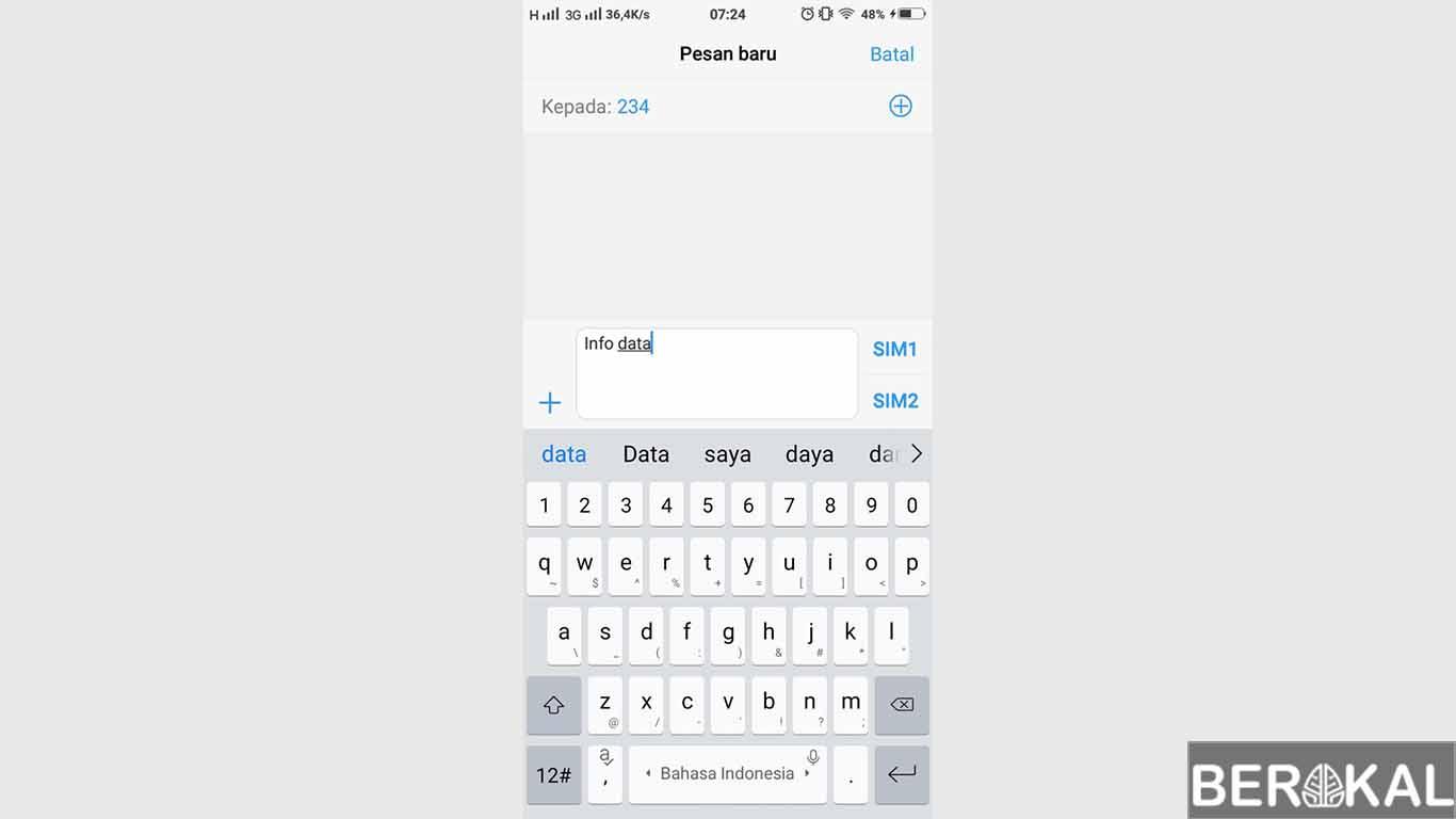cara cek pulsa 3 lewat sms