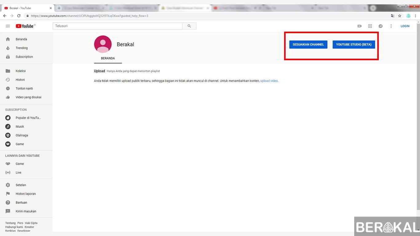 cara membuat channel youtube bisnis