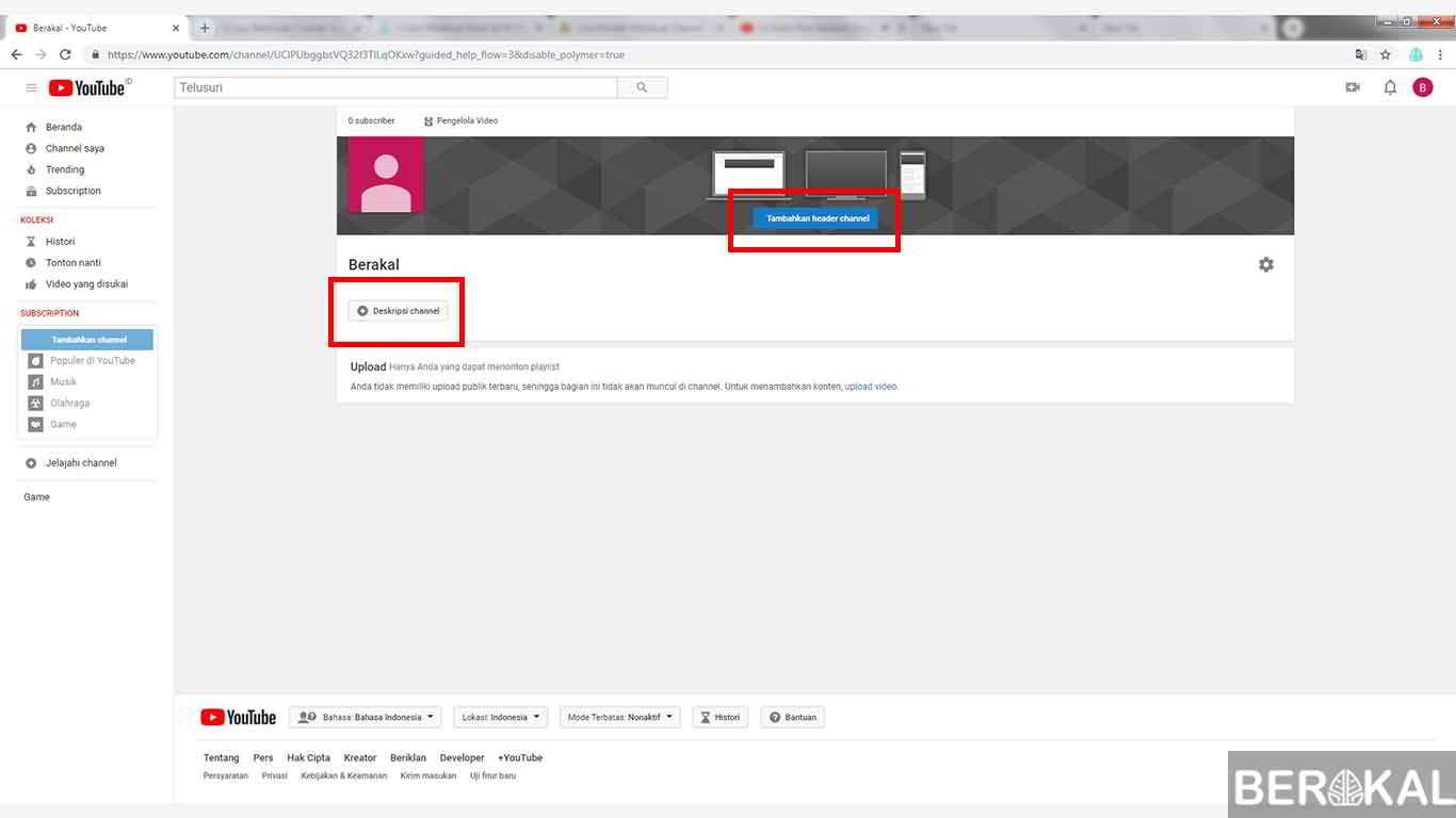 cara membuat channel youtube resmi
