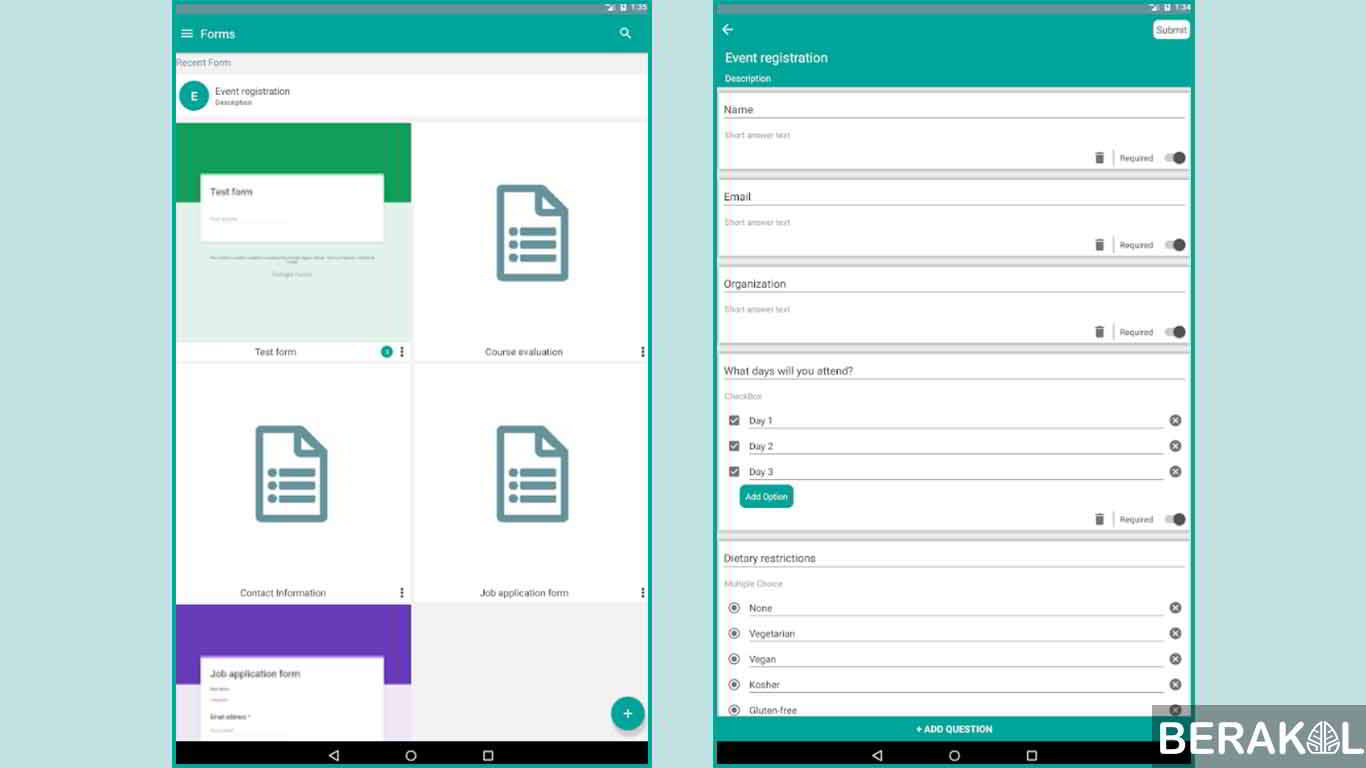 cara membuat google form di hp android