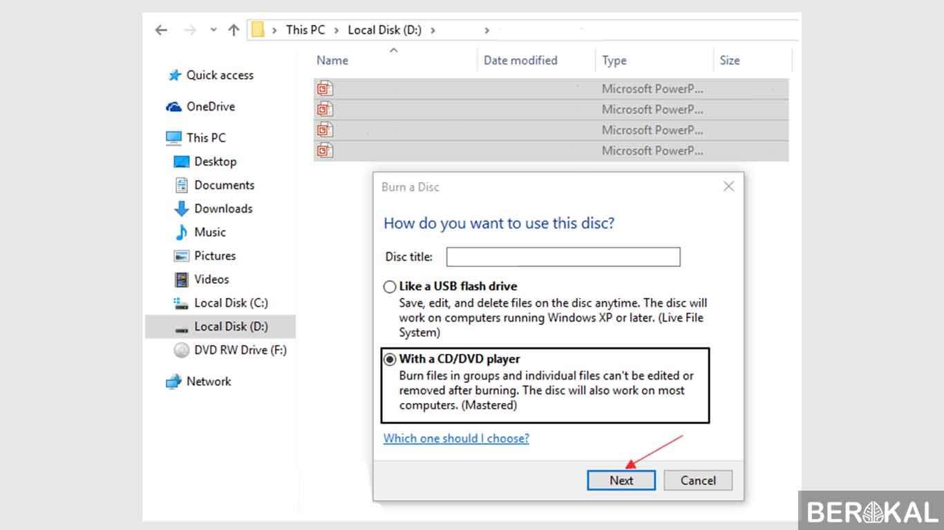 cara burning cd windows 10 tanpa software