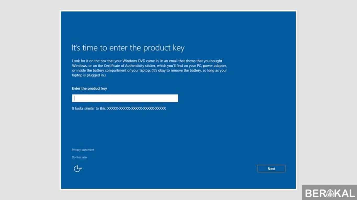 cara instal windows 10 pro