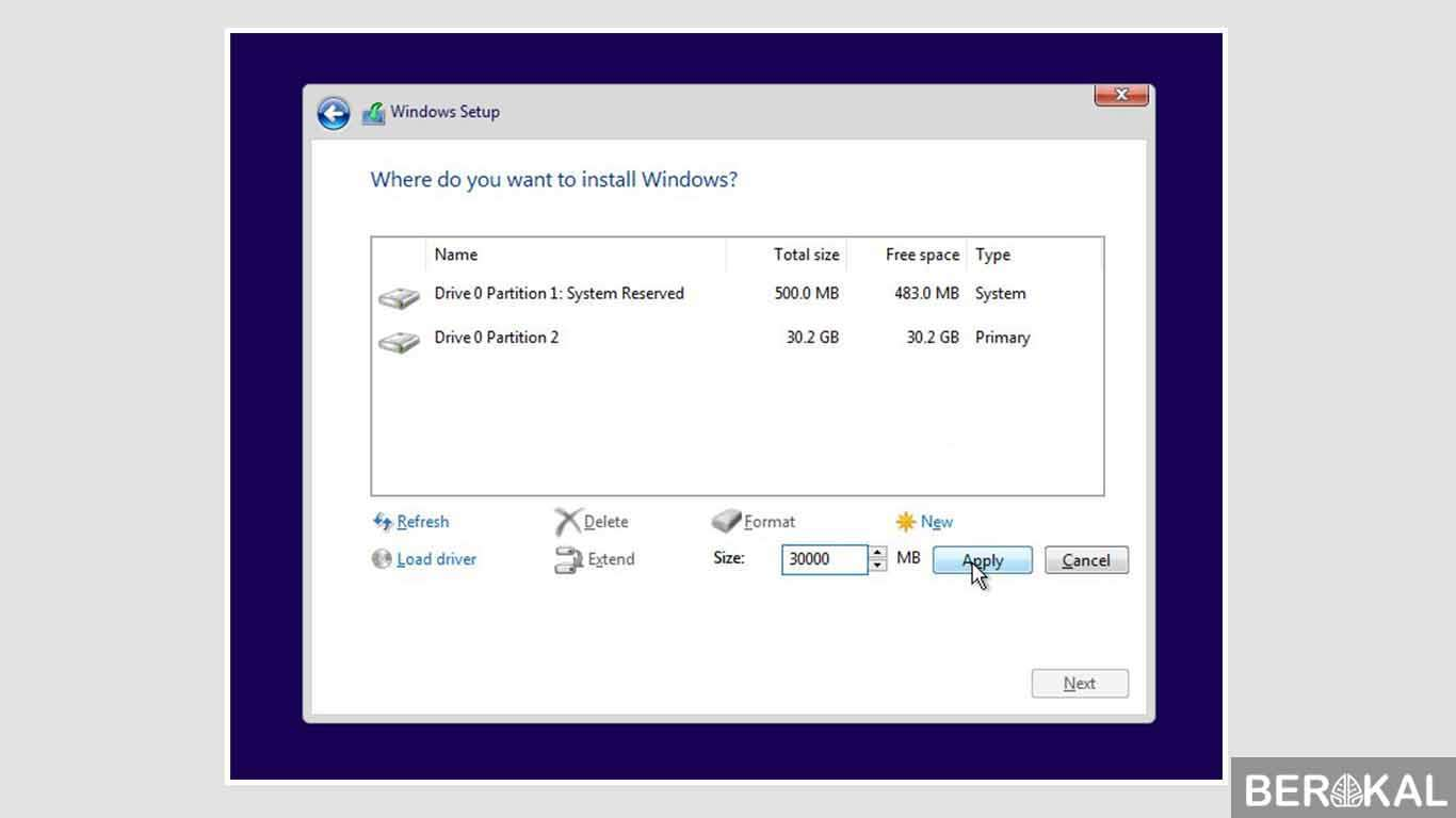cara instal windows 10 tanpa flashdisk