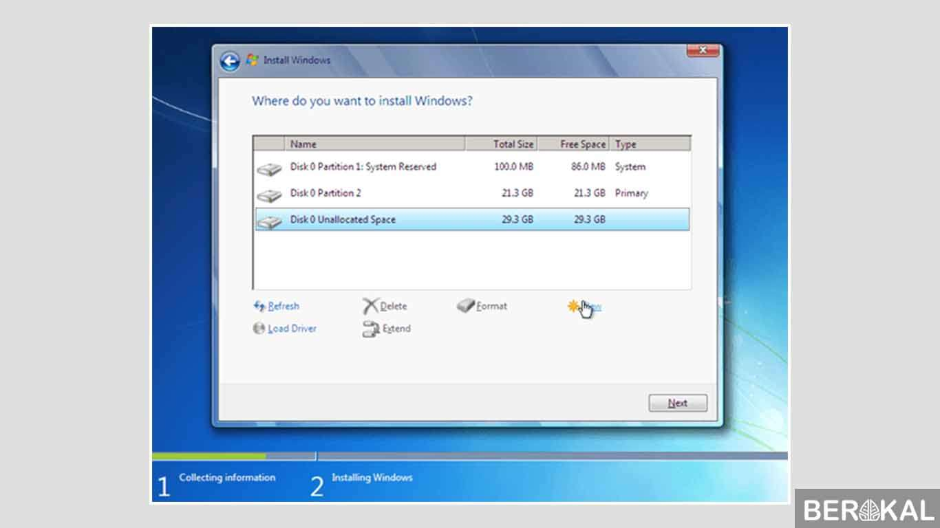 cara instal windows 7 dengan cd rom