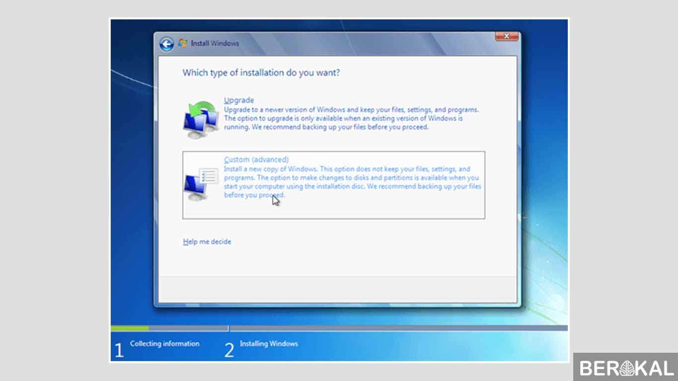 cara instal windows 7 dengan dvd