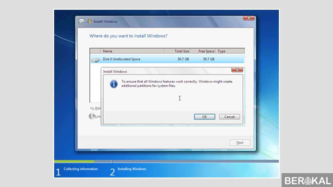 cara instal windows 7 dengan sd card