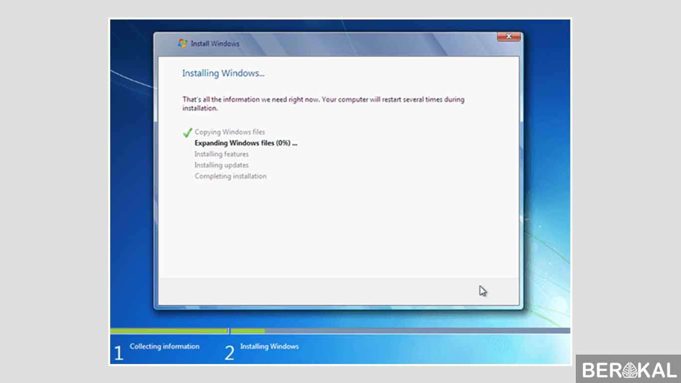cara instal windows 7 laptop