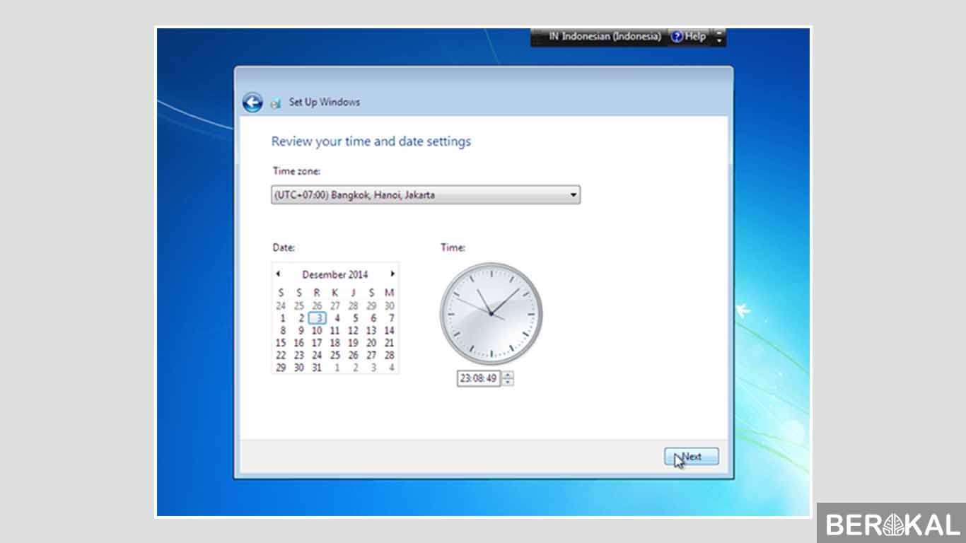 cara install ulang windows 7 dengan flashdisk