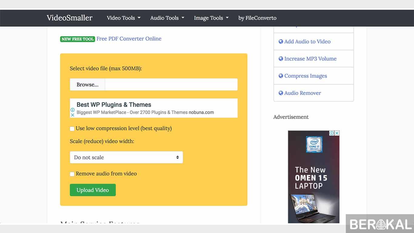 cara kompres video online