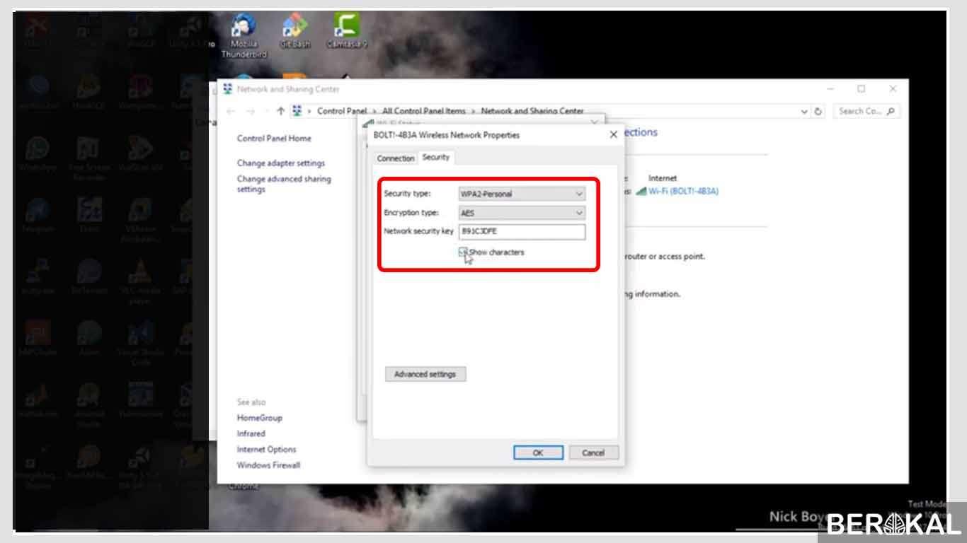 cara melihat password wifi di laptop windows 10 pro
