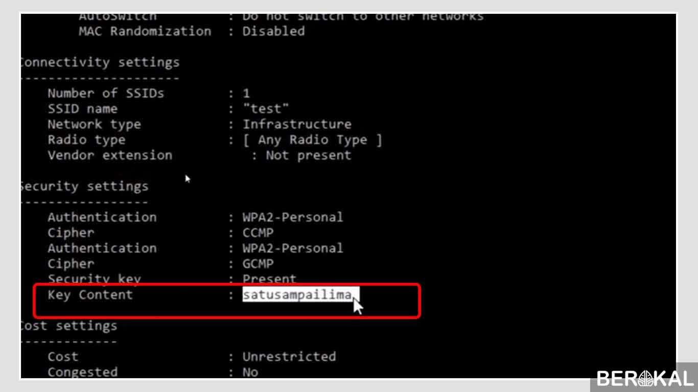 cara melihat password wifi sendiri di laptop windows 10