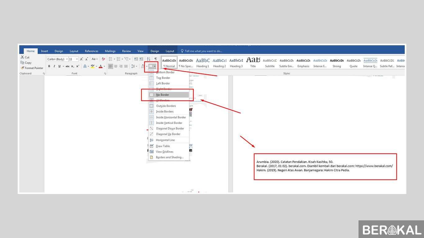 cara membuat daftar pustaka otomatis di word 2010
