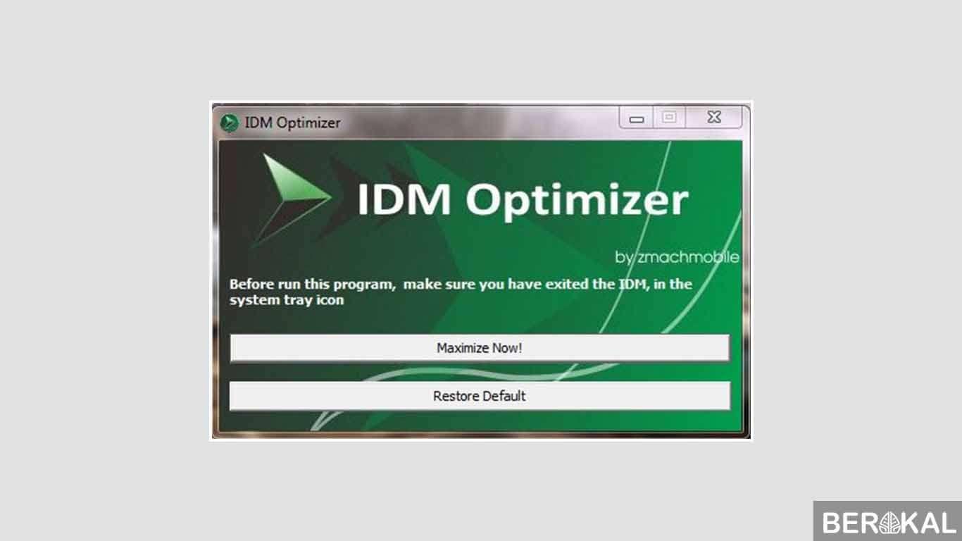 cara mempercepat idm dengan idm optimizer