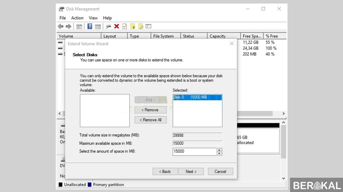 cara menambah partisi hardisk windows 10
