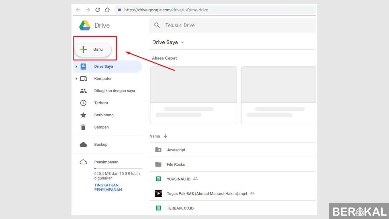 3 Cara Menggunakan Google Drive Upload File Berbagi