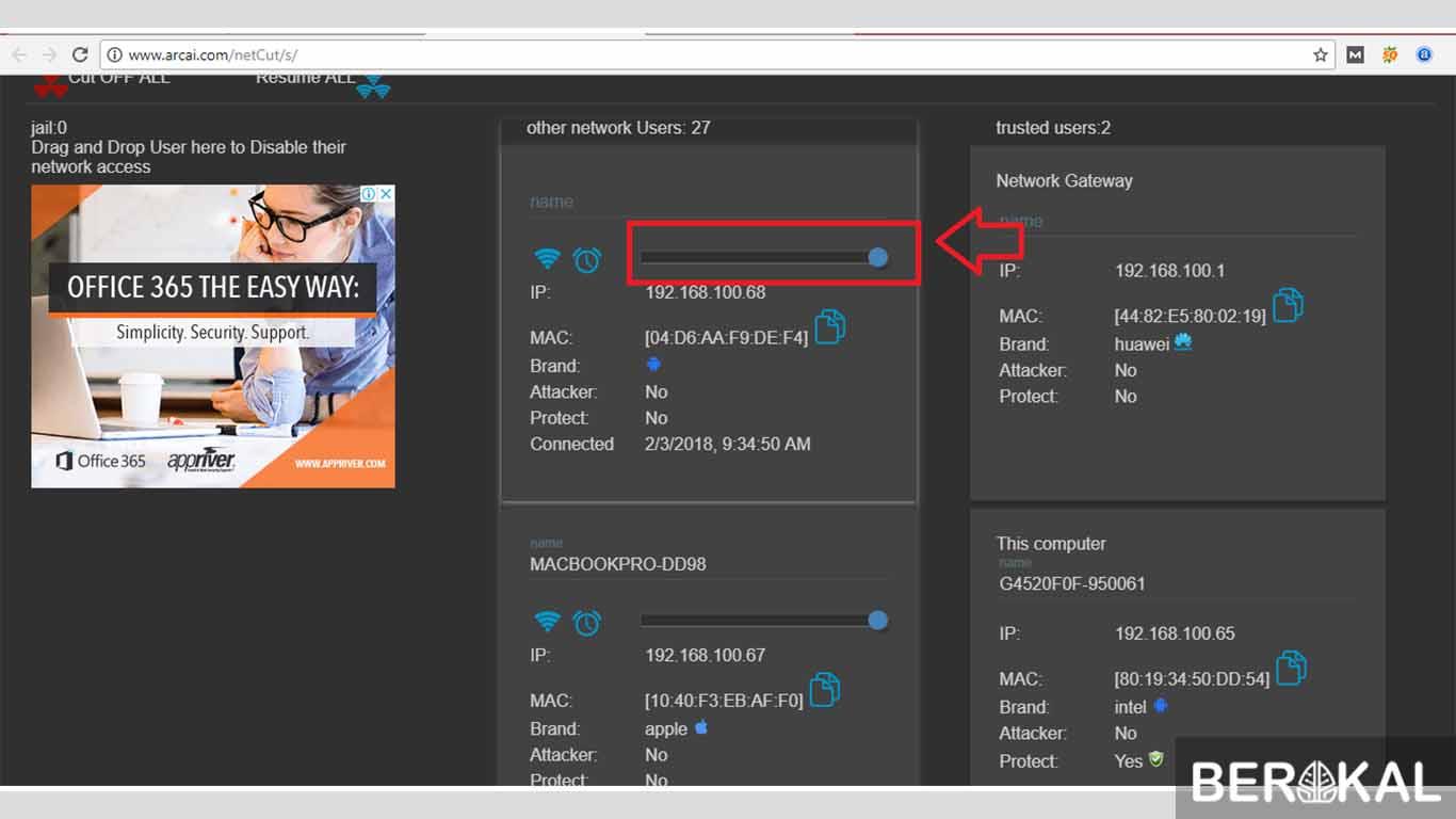 cara menggunakan netcut versi terbaru