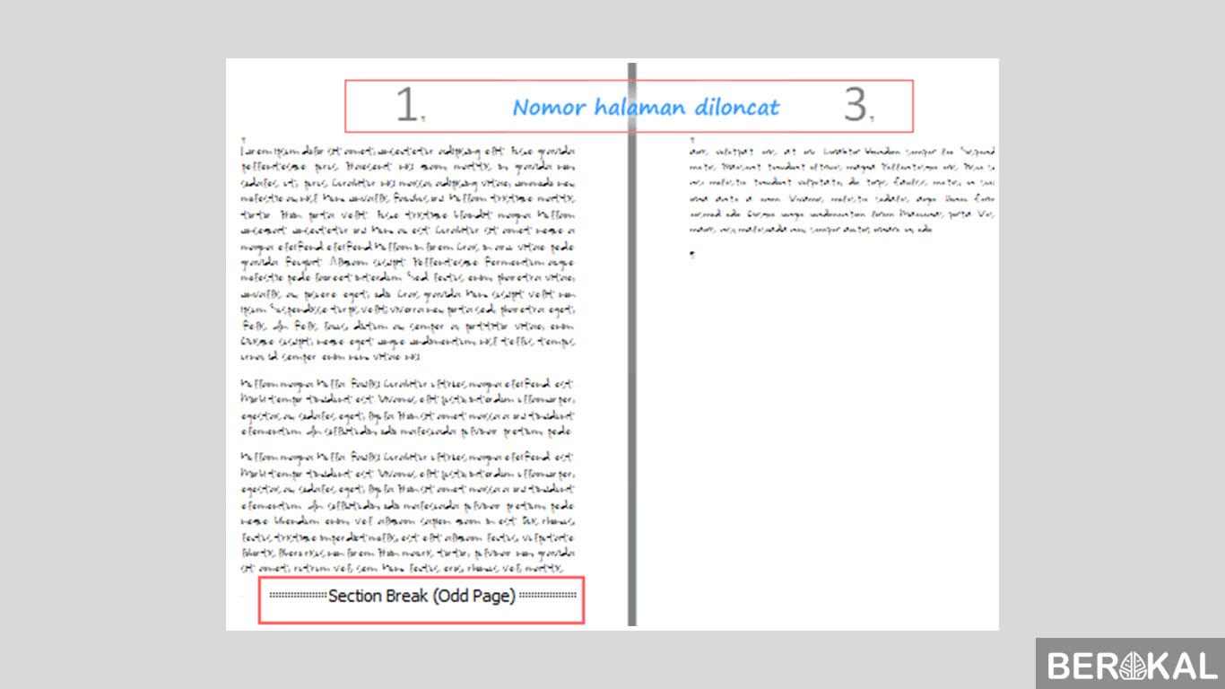 cara menghapus halaman kosong akibat salah page break