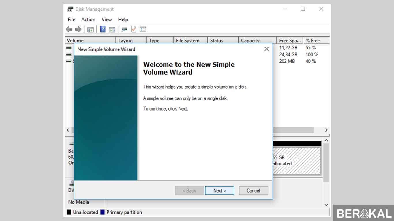 cara partisi hardisk saat instal windows 7