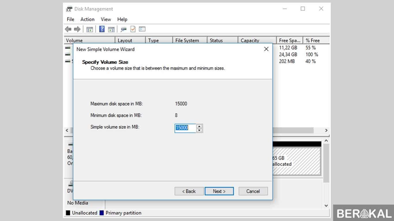 cara partisi hardisk windows 10 saat instal ulang