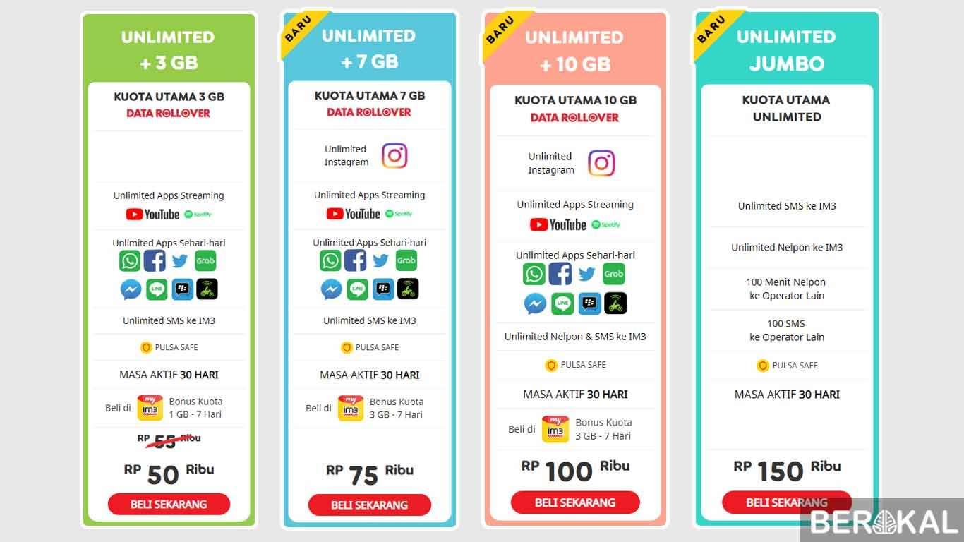 Paket Internet Im3 Unlimited