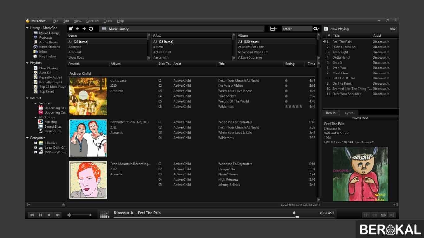 aplikasi pemutar musik pc dengan lirik