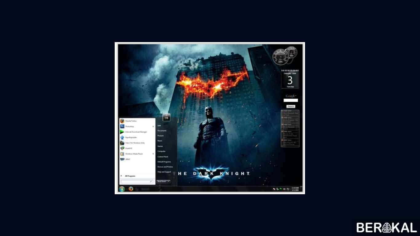 cara download tema windows 7