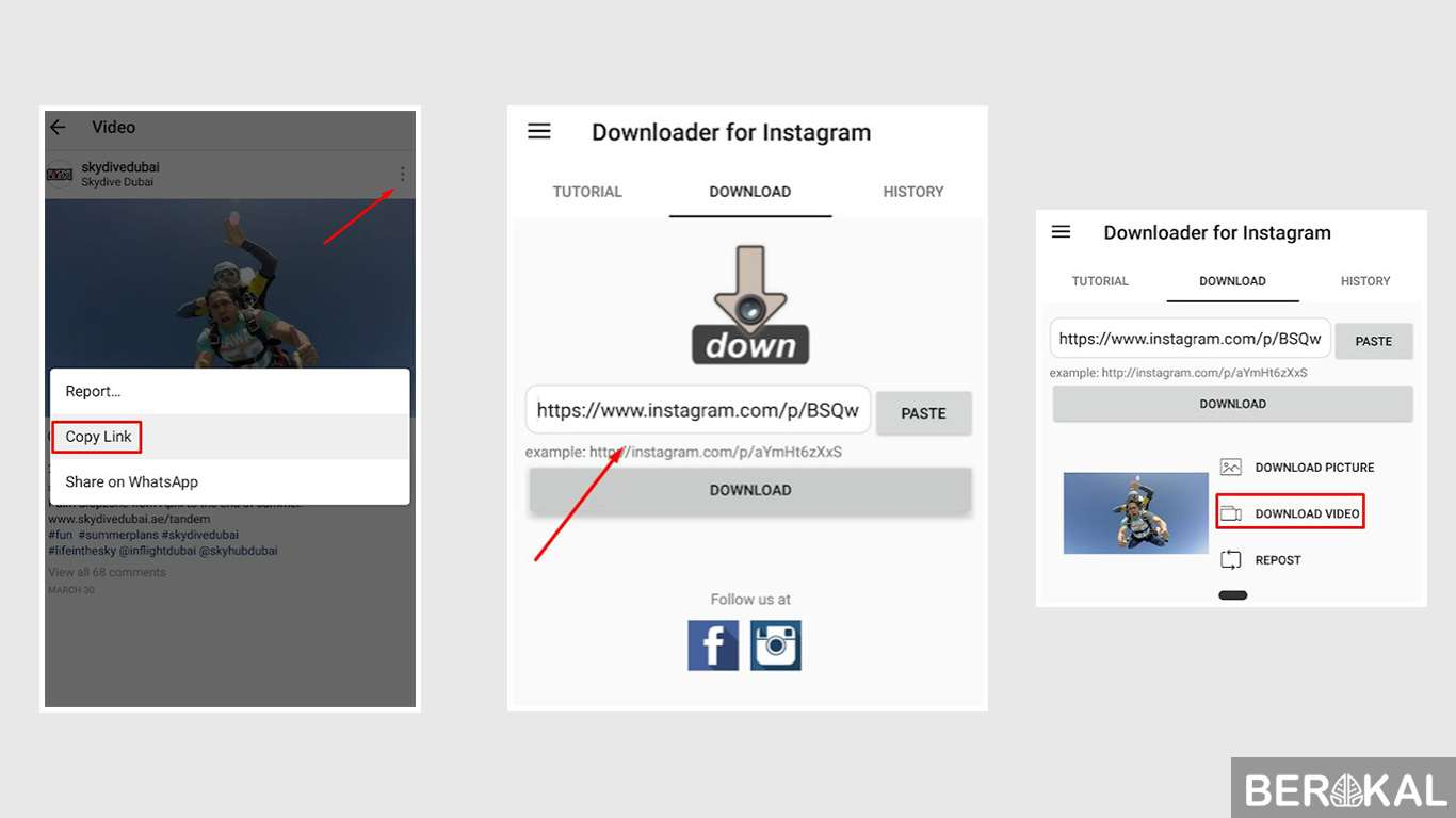 cara download video di instagram iphone