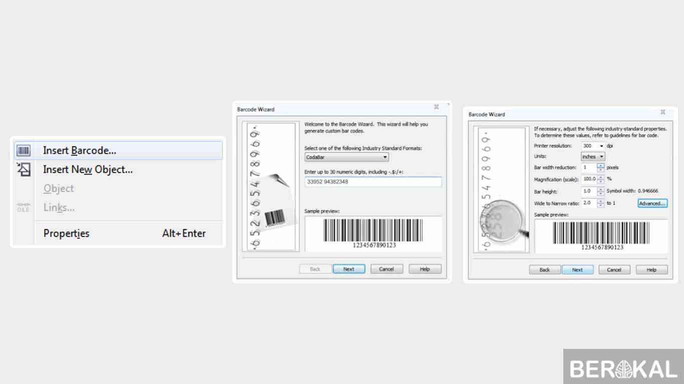 cara membuat barcode berurutan