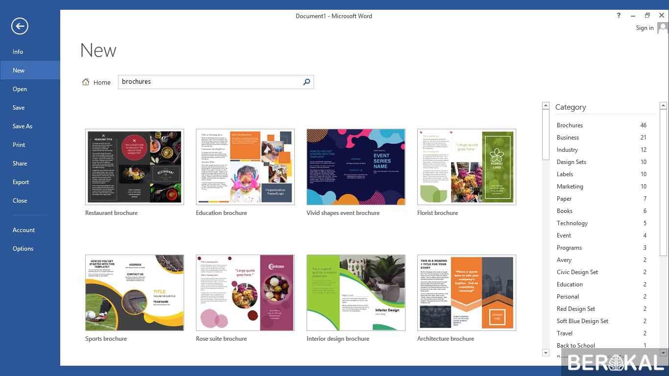 cara membuat brosur dengan microsoft word 2013