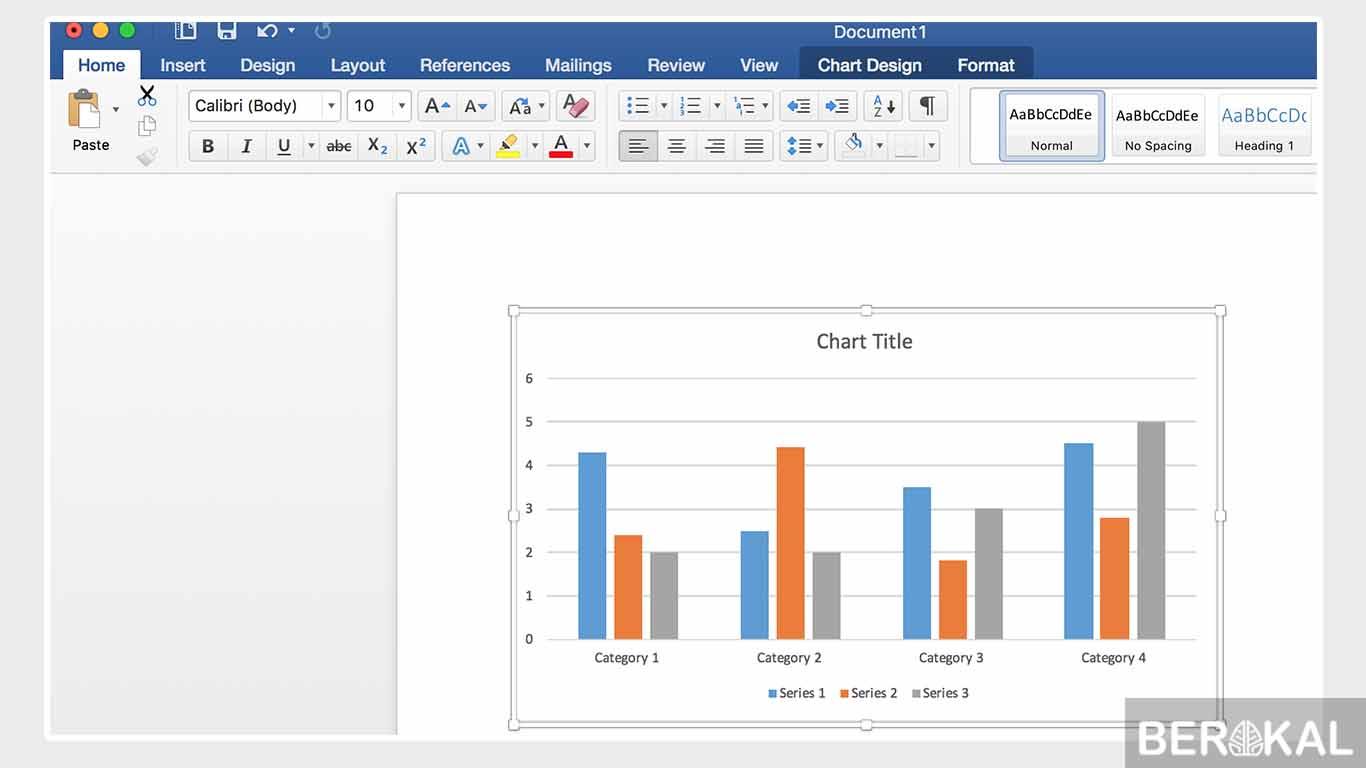 cara membuat grafik di word 2013